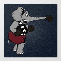 patriotic Canvas Prints featuring Patriotic Pugilist  by Adam Metzner
