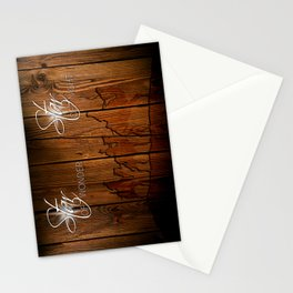 3 Kings on Wood Stationery Cards