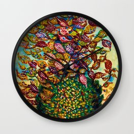 Le grand flower bouquet in vase by Seraphine Louis Wall Clock