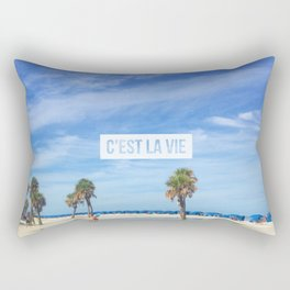 LIFE AT CLEARWATER BEACH Rectangular Pillow