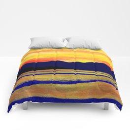 Salish Sea Sunset Comforters