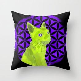Spiritual guide : The Cat Throw Pillow