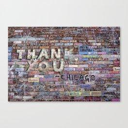 Thank you   Noriko Aizawa Buckles Canvas Print