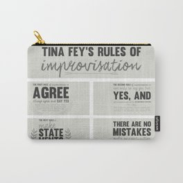 Tina Fey's Rules of Improvisation Carry-All Pouch