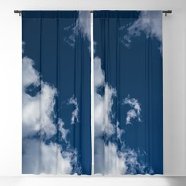 Deep Blue Skies and Big Cloud Views Blackout Curtain