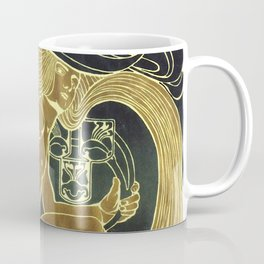 Art Nouveau Vintage Poster by Koloman Moser for the 5th Exhibition of the Wiender Secession Coffee Mug