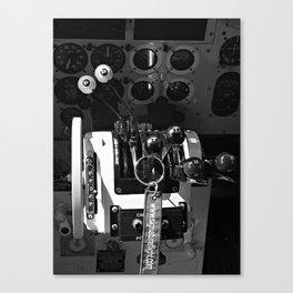 Engine Controls Canvas Print