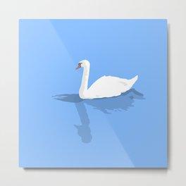Blue Swan Metal Print