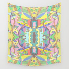 Leaves Pattern Yellow Wall Tapestry