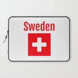 Sweden - Swiss Flag Laptop Sleeve