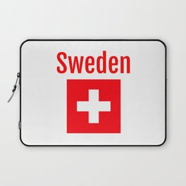 Sweden - Swiss Flag Laptop Sleeve