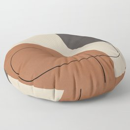 Modern Abstract Shapes #1 Floor Pillow