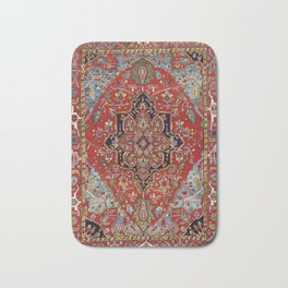 Heriz  Antique Persian Rug Print Bath Mat