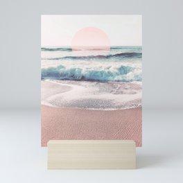 Sea, Salt, Sand and Sun Pastel Vibes Mini Art Print