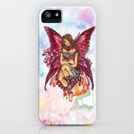 Spring Red Fairy iPhone Case