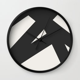 Neutral Abstract 1B Wall Clock