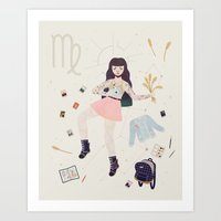 virgo Art Prints featuring Virgo by LordofMasks