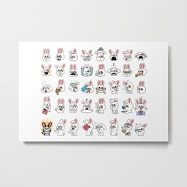 Bunny Rabbit Complete Set Metal Print
