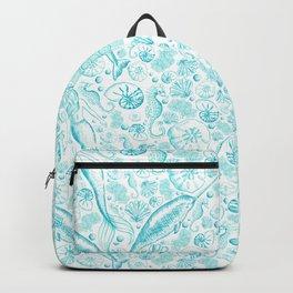 Mermaid Toile - Teal Backpack
