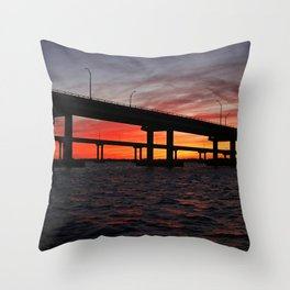 An Evening on the Caloosahatchee II Throw Pillow
