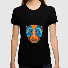 Rhesus Macaque Head Flat Icon T-shirt