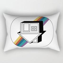 no grey Rectangular Pillow