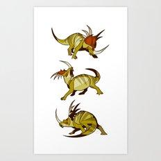 Styracosaurus Art Print