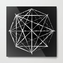 Octagon Diagonals Metal Print
