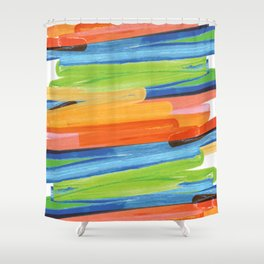Color yellow red blue green Shower Curtain