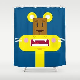 Cute Cartoon Lioness Shower Curtain