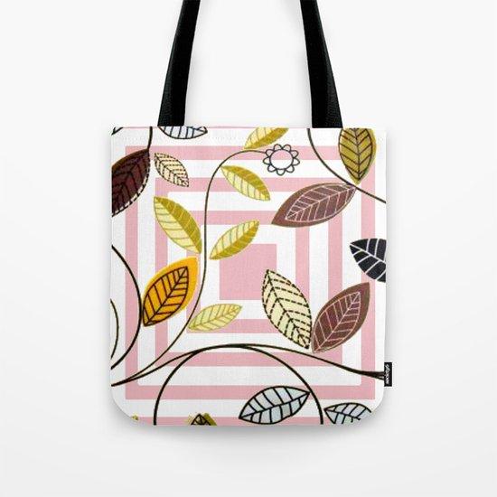 Rose Quartz, Clouds and Plants Tote Bag
