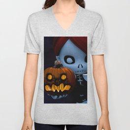 Rag Doll Halloween Unisex V-Neck