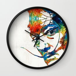 Colorful Dali Art by Sharon Cummings Wall Clock