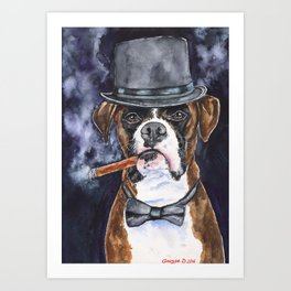 Mr Boxer Watercolor | Pillow Cover | Dogs | Home Decor | 16 x 12 Throw Pillow | Dog Mom Art Print