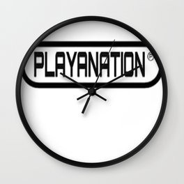 Reg PlayaNationMG BLK Wall Clock