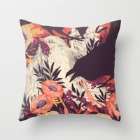 death Throw Pillows featuring Harbors & G ambits by Teagan White