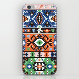 Tribal chic seamless colorful patterns iPhone Skin