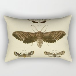 Vintage Moths Rectangular Pillow