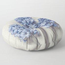 Light Blue Hyacinths Floor Pillow