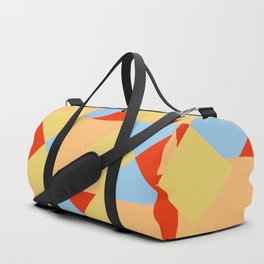 geometric retro colorful pattern Onmoraki Duffle Bag