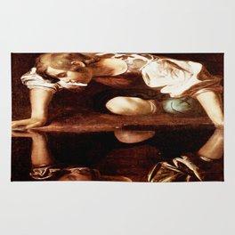 Michelangelo Merisi da Caravaggio, Narcissus at the Source, oil on canvas, 1597-99 Rug