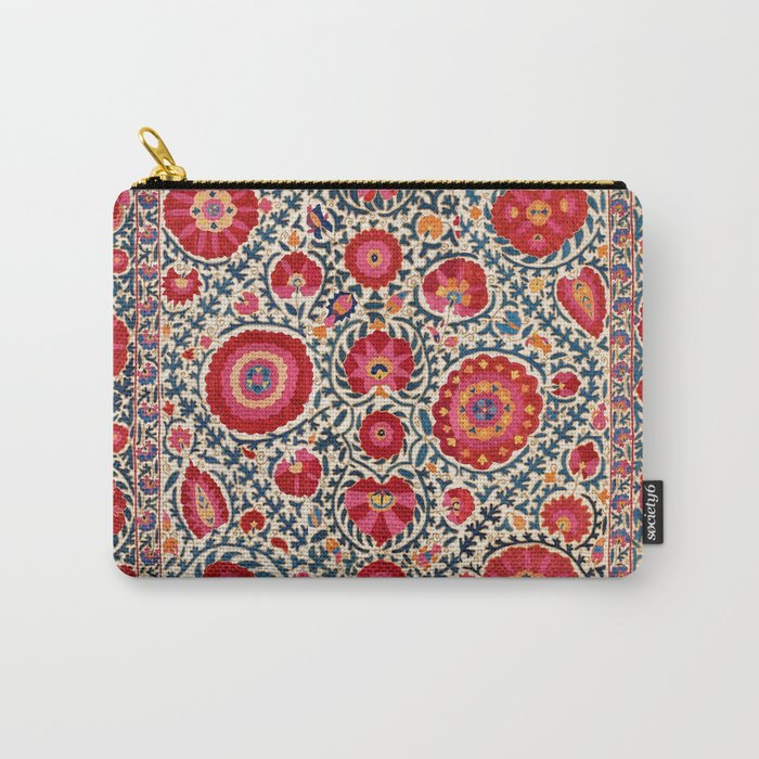 Kermina Suzani Uzbekistan Embroidery Print Carry-All Pouch