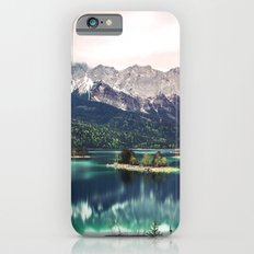 Green Blue Lake and Mountains - Eibsee, Germany iPhone 6s Slim Case