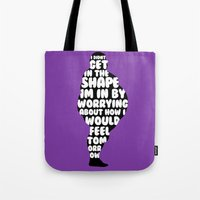 fat Tote Bags featuring Fat by Zeke Tucker