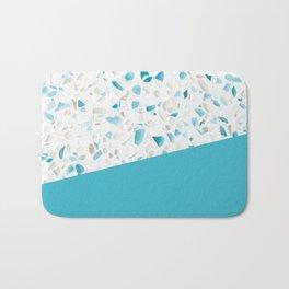 Terrazzo Texture Pacific Light Blue #5 Bath Mat