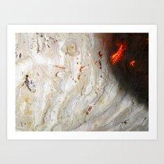 Flaming Seashell 2 Art Print