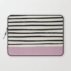Dusty Rose & Stripes Laptop Sleeve