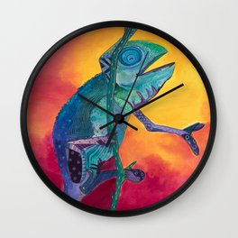 Singing Chameleon Wall Clock