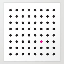 The Unruly Pink Dot Art Print