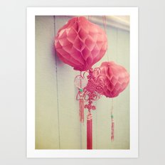 Chinese Lanterns II Art Print